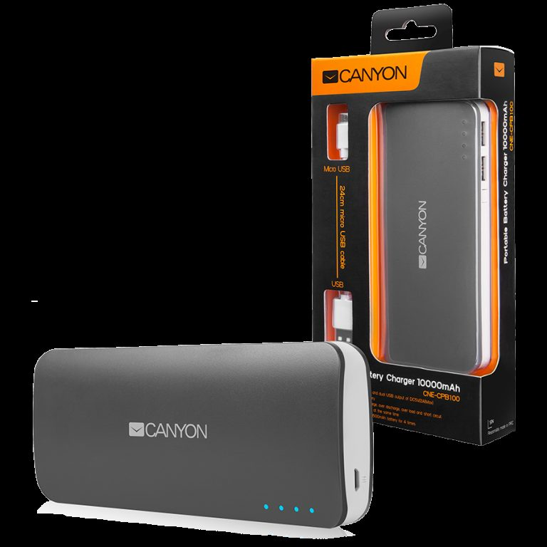 CANYON Battery charger for portable device 10000 mAh (Dark Grey)