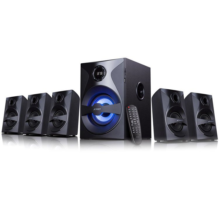 Multimedia – Speaker F&D F3800X 3″ full range driver for satellites, 5.25″ bass driver for subwoofer, Innovative automatic multi-color LED, BT 4.0, USB/SD card reader, FM, LED Display