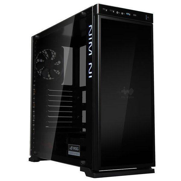 Chassis In Win 805i Infinity  Mid Tower Aluminium, Tempered Glass,RGB LED,ATX,Micro-ATX,Mini-ITX, Front Ports 2xUSB 2.0 1xUSB 3.0 1xUSB 3.1 HD Audio,476x205x472.5mm, 2×120/140 Front Fan/280 Radiator/1×120 Rear Fan(installed)/2×120 Bottom, Black/RGB