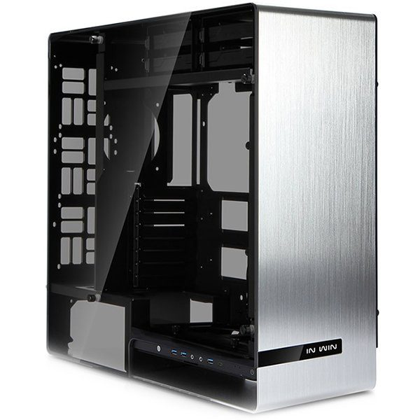 Chassis In Win 909 Full Tower Aluminium, Tempered Glass E-ATX, ATX, Micro-ATX, Mini-ITX, Front Ports 3xUSB 3.0 1xUSB 3.1 Type-C HD Audio,540x231x575,2×120/140 Fans: 2×120/140/1×120/3×120 or2x40/2×120/140, Radiators 1×280/1×120/1×360/1×240,Silver