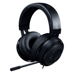 Razer Kraken Pro V2 BLACK – Analog Gaming Headset,50 mm audio drivers ,Unibody aluminum frame ,Fully-retractable microphone with in-line remote,3.5 mm combined jack.