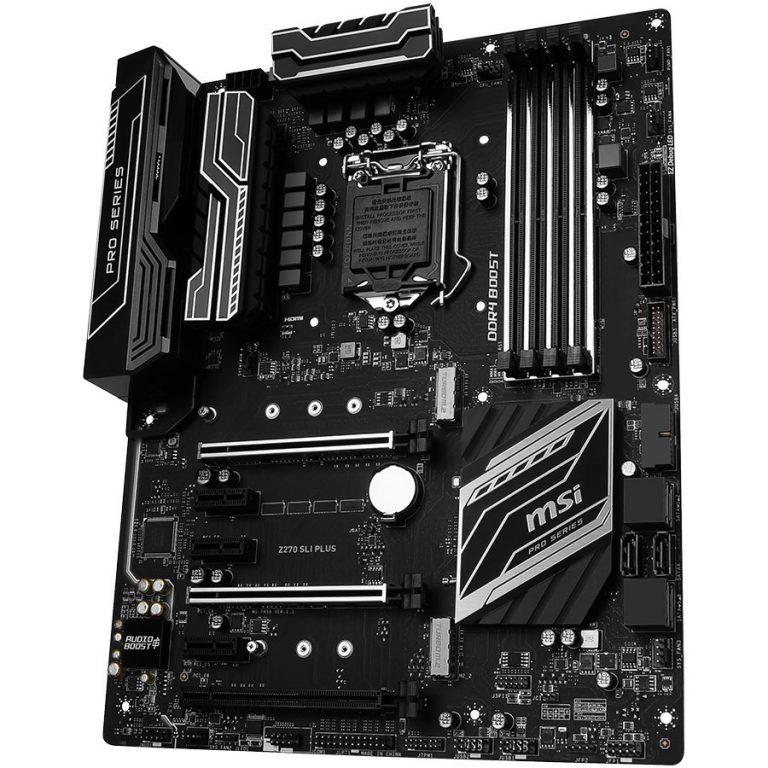 MSI Main Board Desktop Z270 (S1151,4xDDR4,3xPCI-Ex16,3xPCI-Ex1, USB3.0,SATA III,DVI,HDMI,GLAN) ATX Retail