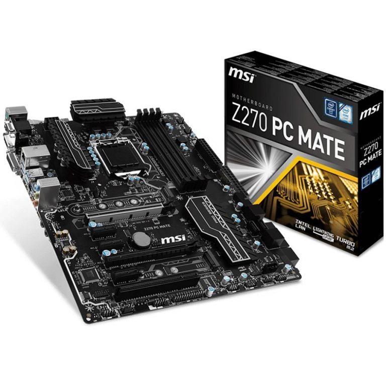 MSI Main Board Desktop Z270 (S1151,4xDDR4,2xPCI-Ex16,3xPCI-Ex1,1xPCI, 2x M.2, USB3.1,USB2.0,SATA III,HDMI,DVI,VGA,GLAN) ATX