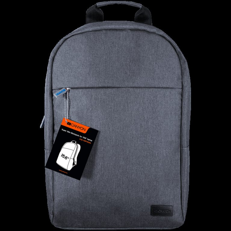 CANYON Super Slim Minimalistic Backpack for 15.6″ laptops