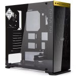 Chassis In Win 805C Mid Tower ATX Aluminum 3mm Tempered Glass, 3.5″/2.5″ x2 2.5″ x4, USB 3.1(TYPE-C) x1, 3.0 x 1,2.0 x2, HD Audio,120/140mm Fan x2, 120mm Fan x1(Included), 120mm Fan x2, Water-Cooling Ready,Gold