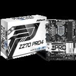 ASROCK Z270 (S1151, 4xDDR4,2xPCI-Ex16,3xPCI-Ex1, 1xPCI, VGA,DVI,HDMI,3 x M.2 (2 for SSD, 1 for WiFi), RAID,  USB3, Type-C, PS/2×1 ( Header COM,TPM) ATX