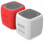 Multimedia Bluetooth Speakers F&D W4 – Power output 3W, 1.5″ inch driver and passive radiator, Bluetooth 4.0, 360 degree sound field, changable colorful cover, (micro SD card, 3.5mm Aux input, Li-ion battery 1000mA, Red/White