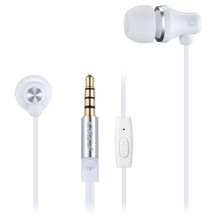 FENDA SPIRO E260_W WHITE Stereo Earphones with inline microphone