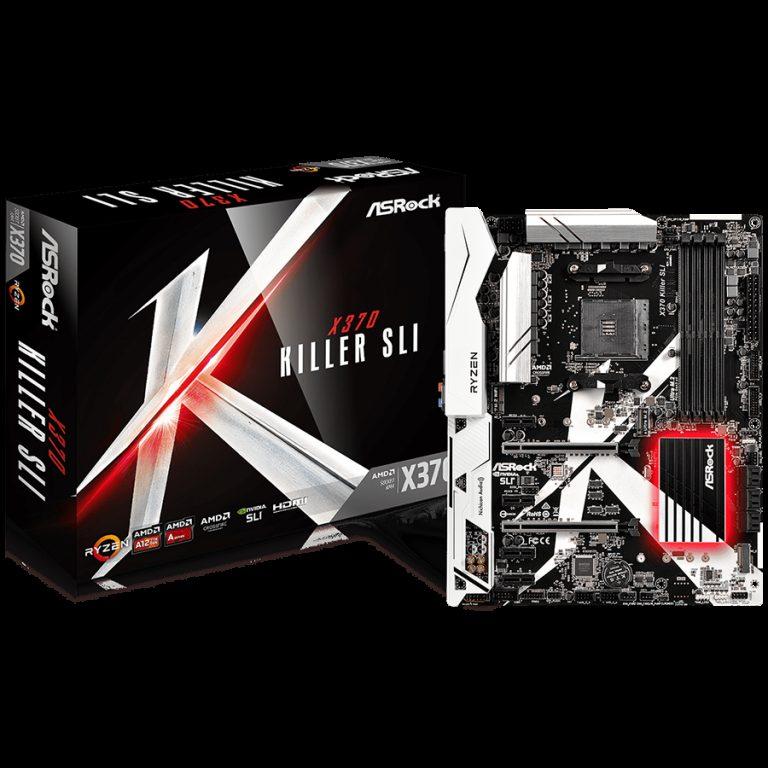 ASROCK Main Board Desktop AM4 X370 (SAM4,4xDDR4,2xPCI 3.0×16, 4xPCI Ex1, SATA III,USB3.0,GLAN) ATX Retail
