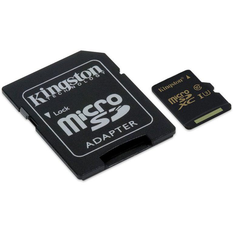 Kingston 16GB microSDHC Class U3 UHS-I 90R/45W + SD Adapter