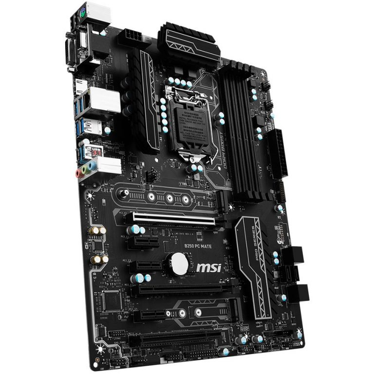 MSI Main Board Desktop B250 (S1151, DDR4, USB3.1, USB2.0, SATA III,M.2, HDMI,DVI,VGA, Audio Line-Out,Audio Line-In,Microphone-In, LAN) ATX Retail