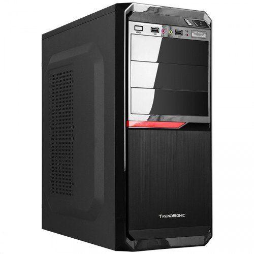 Chassis PACE-PA02A-B-BK/RD, ATX/ MICRO ATX, 7 slots, 4 X 5.25″, 7 X 3.5″ H.D., 2 X USB2.0 / 1xUSB3.0/2 x AUDIO /, PSU 550W 12 sm, 20+4pin, 2 x IDE, 3 x SATA, 360*175*405mm, 1 x 80mm Back Black FAN /opt/., Black