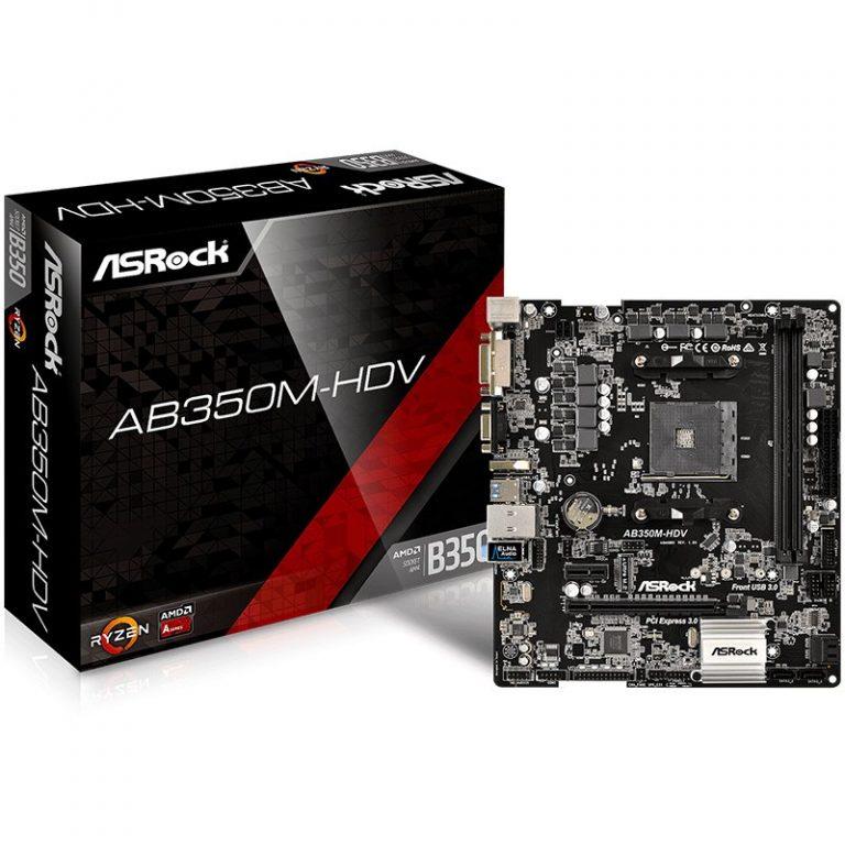 ASROCK Main Board Desktop AM4 B350 (SAM4,2xDDR4,2xPCI 3.0×16,PCI E 2.0×1 , SATA III,M2,USB3.0,DVD,HDMI,GLAN) mATX Retail