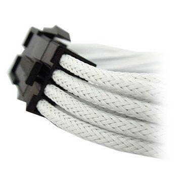 GELID 6+2pin VGA PCI-E 30cm individually sleeved WHITE