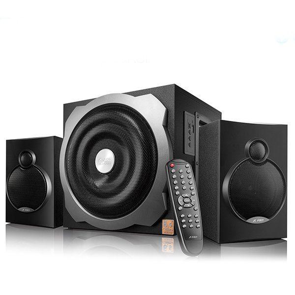 Multimedia Bluetooth Speakers F&D A521X Bluetooth 4.0 (2.1 Channel Surround, 16Wx2+20W (RMS), 120Hz-20kHz, Subwoofer: 20Hz-120Hz, USB reader, Wooden, Black)