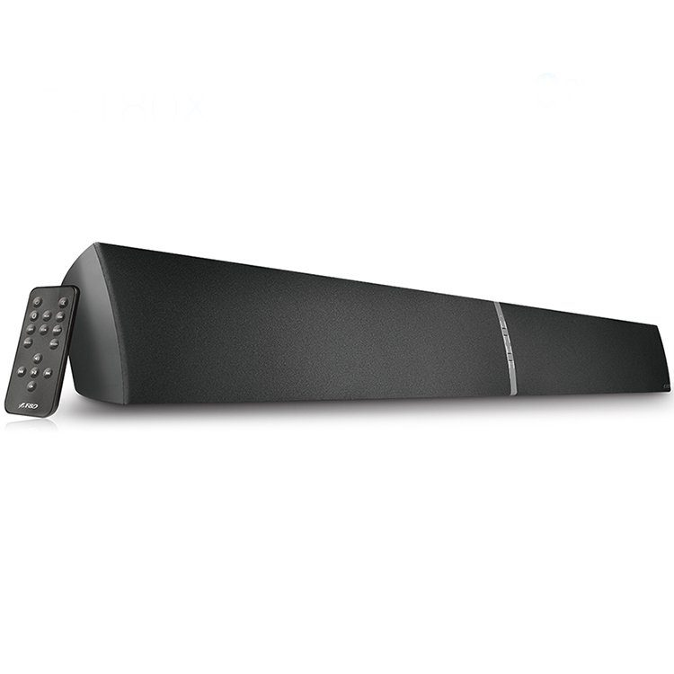 "Bluetooth Sound Bar Audio System F&D T-180X 20Wx2 (RMS) 3"" full range driver and 1"" silk tweeter per channel , 20 – 20kHZ, 3D surround sound effect, Wireless IR full function remote control, CSR Bluetooth 4.0, Optical input"