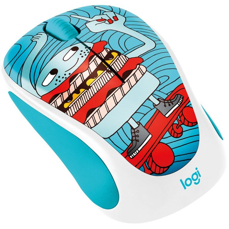 LOGITECH Wireless Mouse M238 – Doodle Collection – SKATEBURGER  – EMEA