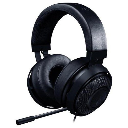 Razer Kraken Pro V2 – Analog Gaming Headset – Black –OVAL Ear Cushions. 50 mm audio drivers ,Unibody aluminum frame ,Fully-retractable microphone with in-line remote,3.5 mm combined jack.