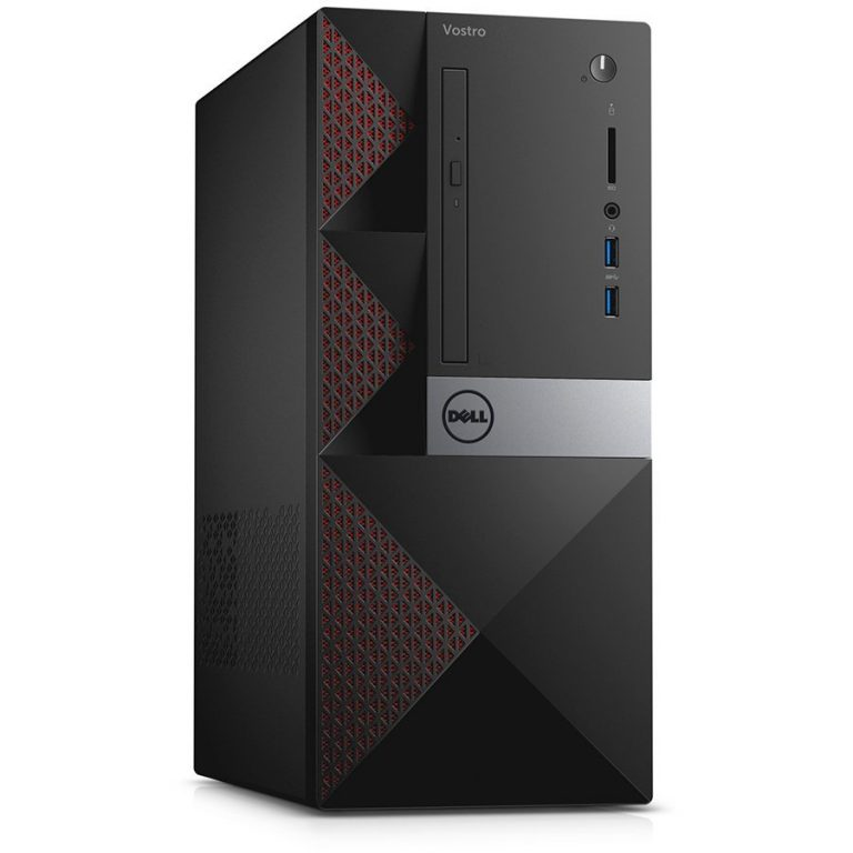 Vostro 3668MT, Intel Core i3-7100 (3MB Cache, up to 3.90 GHz), 4GB DDR4 2400MHz (4GBx1), 5:1 media card reader, 500GB 7200 rpm, 16X DVD+/-RW drive, MS116, KB216, Win 10 Pro, 3Y NBD
