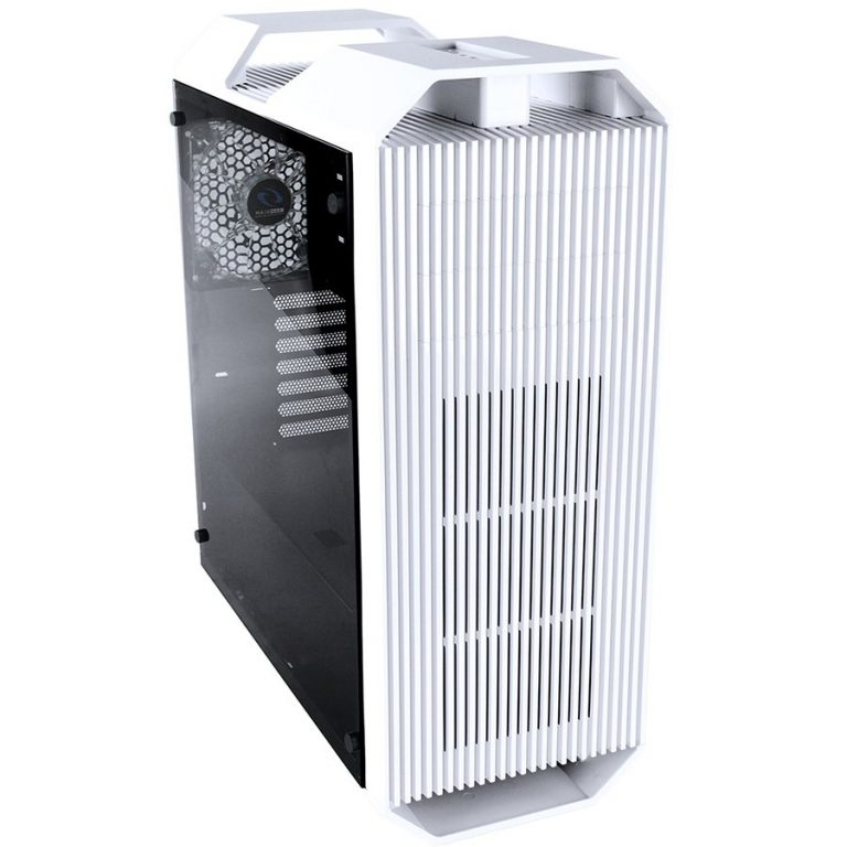 Chassis Monster II Tower, 7 slots, 2 X 5.25″, 1 X 3.5″ H.D./ 2 x 2.5″ SSD, 2 x AUDIO / 1 x USB3.0, PSU Optional,1 X 140mm Front LED Fan, 1 x 140mm Back Black Fan, 2 X 140mm TOP fan /opt./White