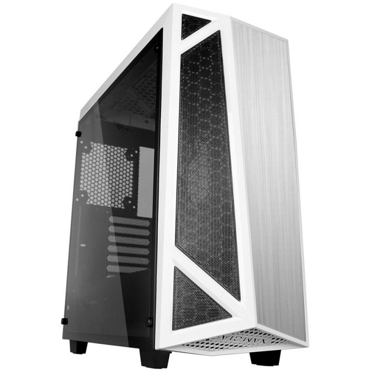 Chassis SIGMA A14 TWS Tower, ATX, 7 slots, 1 X 3.5″ H.D., 2X 2.5″H.D,2x 3.5″or 2.5″H.D. 2 x HD AUDIO / 2 x USB3.0, PSU Optional, 3 X 120mm fan, 1 x 120mm, 489x214x518mm, White