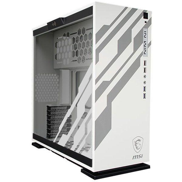 Chassis In Win 303 RGB LED MSI DRAGON Mid Tower,Tempered Glass,SECC,ATX,Micro-ATX,Mini-ITX,2xUSB 3.0,2xUSB 2.0,HD Audio,1x120mm Rear Fan/120mm Radiator,3x120mm Top Fan/360mm Radiator,3x120mm Bottom Fan,2×3.5″,2×2.5″Pre-installed (Max. up to 3 bays),white