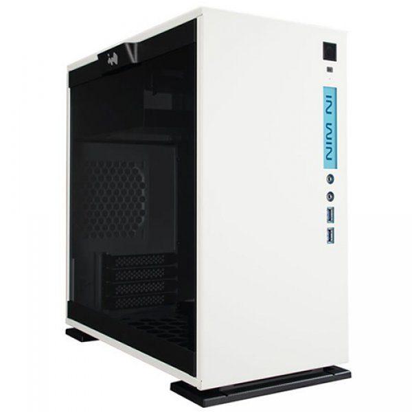 Chassis In Win 301 Mini Tower,Tempered Glass,SECC,Micro-ATX, Mini-ITX,2xUSB 3.0,HD Audio,2x120mm Front Fan/240mm Radiator,1x120mm Rear Fan/120mm Radiator,2x120mm Bottom Fan(Occupy a PCI-E slot),PCI-Ex4,1×3.5″/2.5,2×2.5″,white