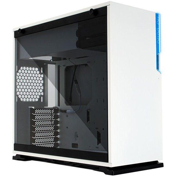 Chassis In Win 101C RGB LED Mid Tower,SECC,ABS,PC,Tempered Glass,ATX,Micro-ATX,Mini-ITX,Max:12″x10.5″,1XUSB 3.1 Gen 2 Type-C,2xUSB 3.0 HD Audio,1x120mm Rear Fan/120 mm Radiator 2x120mm Side Fan/240mm Radiator 3x120mm Bottom Fan/360mm Radiator,RGB LED,white