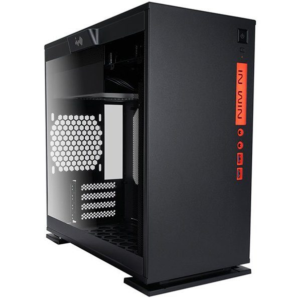 Chassis In Win 301 Mini Tower,Tempered Glass,SECC,Micro-ATX, Mini-ITX,2xUSB 3.0,HD Audio,2x120mm Front Fan/240mm Radiator,1x120mm Rear Fan/120mm Radiator,2x120mm Bottom Fan(Occupy a PCI-E slot),PCI-Ex4,1×3.5″/2.5,2×2.5″,black