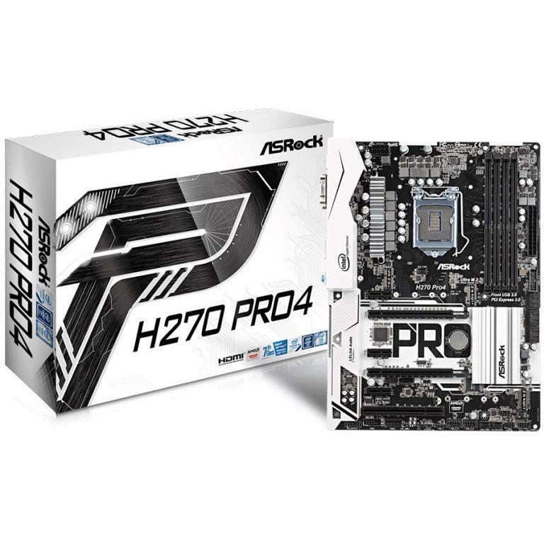 ASROCK H270 (S1151, 4xDDR4, 2xPCIe x16,3xPCIex1,1 PCI, 6xSATA III,2 Ultra M.2 ,GLAN,VGA,DVI,HDMI, USB3.1,USB3.0, 1 Type-C, Header (COM,) 1xPS/2) ATX retail