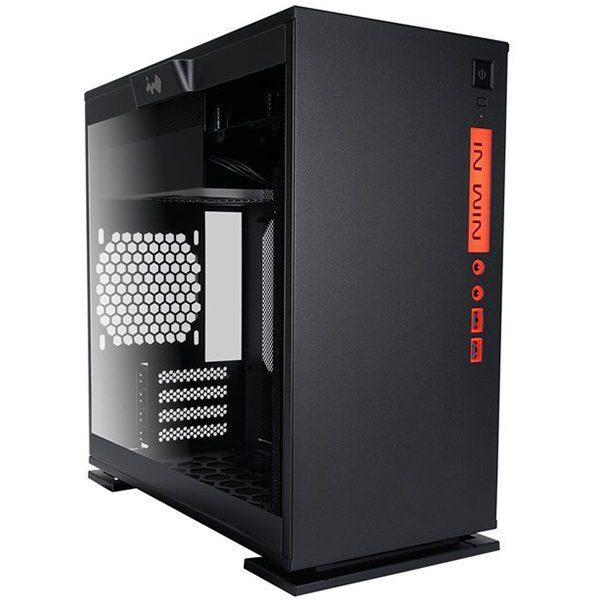 Chassis In Win 301C RGB LED Mini Tower,Tempered Glass,SECC,Micro-ATX, Mini-ITX,USB3.0x2+TYPE3.1C+AUDIO(HD),2x120mm Front Fan/240mm Radiator,1x120mm Rear Fan/120mm Radiator,2x120mm Bottom Fan Occupy a PCI-E slot,PCI-Ex4,black