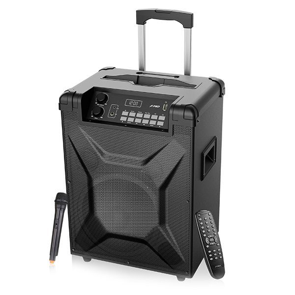 """Multimedia Bluetooth Speakers F&D T2,Power output 30W,2pcs 3"""" full range drivers and 10""""subwoofer,Bluetooth 4.2,metal grill design,Plug&play USB card reader,FM storage,Voice recording,WL microphone in,plumbic acid battery,remote control"""