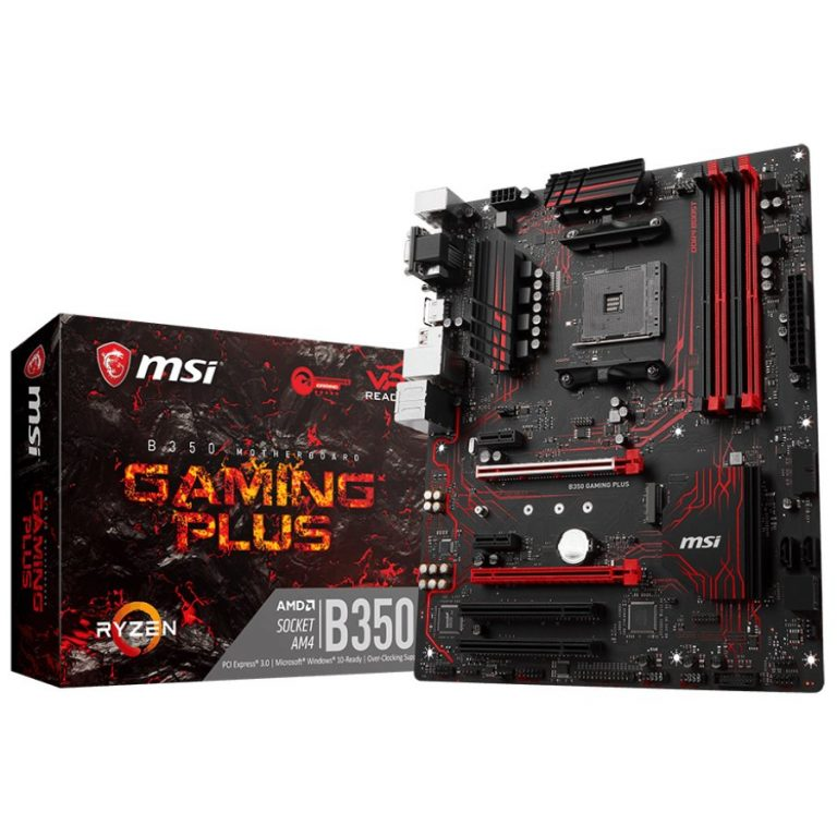 MSI Main Board Desktop B350 (SAM4, 4xDDR4, 2xPCI-Ex16, 2xPCI-Ex1, 2xPCI, USB3.1,USB2.0, 4xSATA III, M.2, Raid, VGA, DVI-D, HDMI, GLAN) ATX Retail