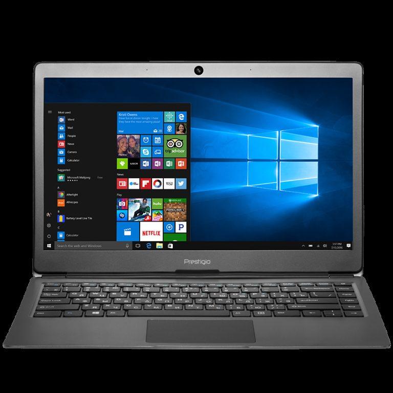 Prestigio SmartBook 133S, 13.3″(1920*1080) IPS (anti-Glare), Windows 10 Home, up to 2.4GHz DC Intel Celeron N3350, 3GB DDR, 32GB Flash, BT 4.0, WiFi, Micro HDMI, SSD slot (M.2), 0.3MP Cam, EN+BG kbd, 5000mAh, 7.4V bat, Dark grey