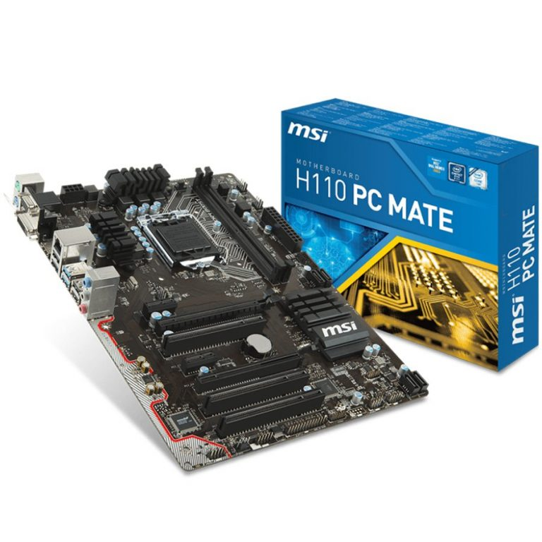 MSI Main Board Desktop H110 (S1151, 2xDDR4,1xPCI3.0x16,2xPCI-Ex1,3xPCI,USB3.1, USB2.0, SATA III, DVI,HDMI,VGA, GLAN) ATX Retail
