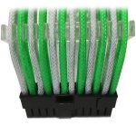 GELID 24pin Power extension cable 30cm individually sleeved Green/White