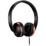 CANYON Stereo headphone with microphone and switch of answer/end phone call, cable 1.2M, Black