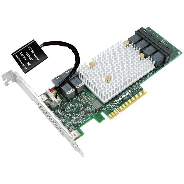 Microsemi Adaptec SmartRAID 3154-8i Single, 2291000-R, 8 internal ports, 2 x SFF-8643, RAID 0, 1, 5, 6, 50, 60, 1 ADM, 10 ADM