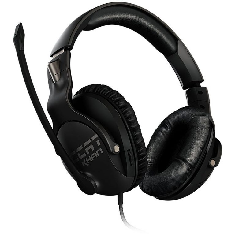 ROCCAT KHAN PRO – Competitive High Resolution Gaming Headset, black,Weight (Headset only):230gr,Cable length:2.45m,jack plug:dual plug 3.5mm (3-pin),Measured Frequency response:10 – 40000Hz