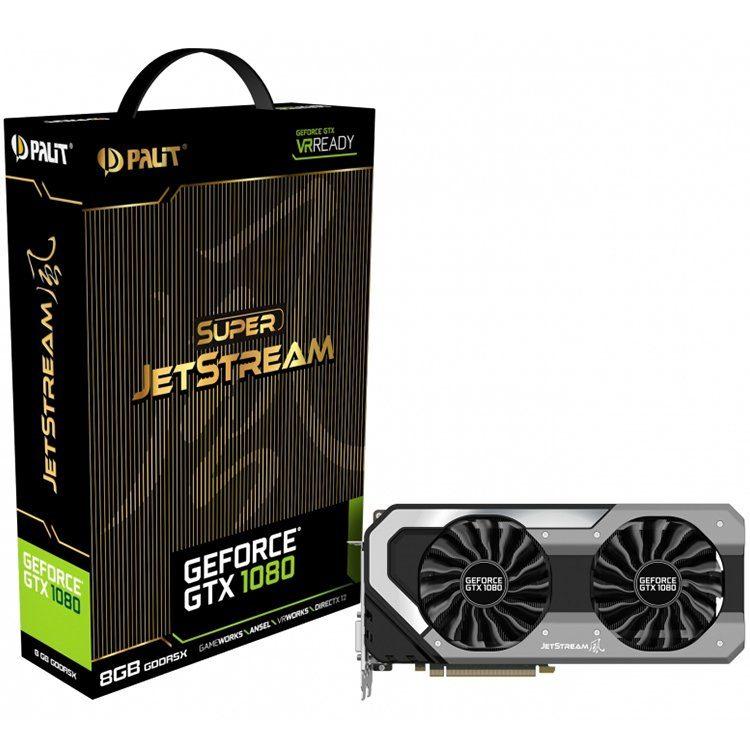 VC Palit nVidia GTX1080 Super Jetstream 8GB GDDR5X, 256bit, Dual DVI, HDMI, DPx3 part# NEB1080S15P2J
