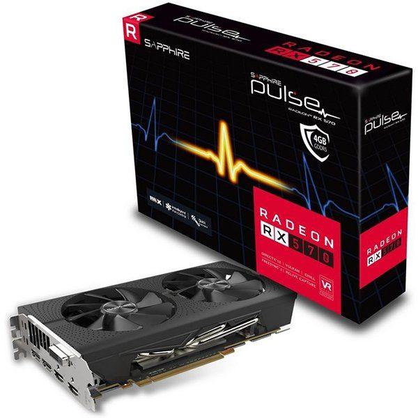 SAPPHIRE Video Card AMD Radeon PULSE RX 570 4G GDDR5 DUAL HDMI / DVI-D / DUAL DP OC W/BP (UEFI)