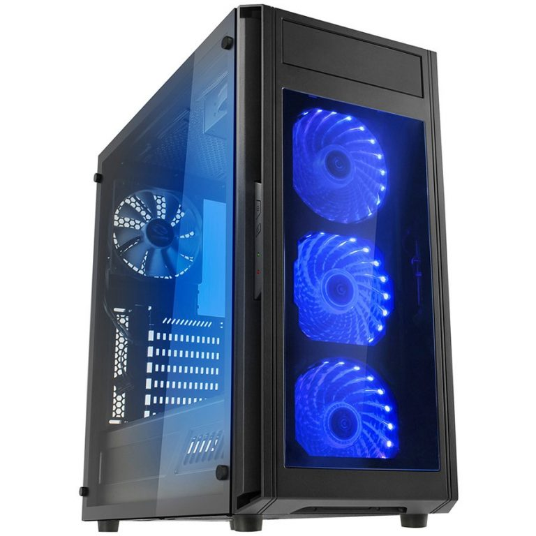 Chassis ALPHA PRIME A15 TTB Tower, ATX, 7 slots, 1 x 5.25″, 2 X 3.5″ H.D.,2 X 2.5″ H.D, 2 x AUDIO / 2 x USB3.0, PSU Optional,3 X 120mm RGB LED fan, 1 x 120mm black fan , Black