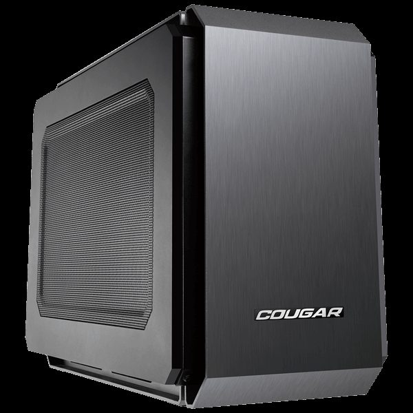 Chassis COUGAR QBX-EU, Mini-ITX Case,Dimension (WxHxD) 178x 291×384 (mm), Supports ONLY Slot Loading Slim ODD,Cooling System Max. Supported Installation: 7 Fans, CM, Fan Filter (Cleanable), Water cooling support