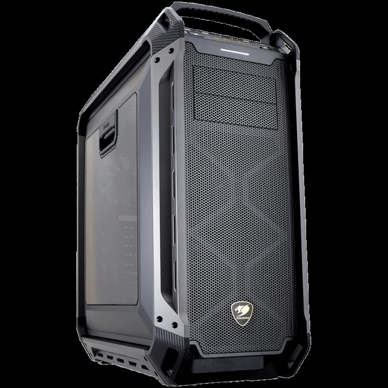 Chassis COUGAR PANZER MAX Full-Tower, Mini ITX/Micro ATX/ATX/ CEB/L-ATX/E-ATX (E-ATX upto 12″x11″), Water Cooling Support, Max. Graphic Cards Length 390mm, Max. CPU Cooler Height 170mm, CM, Dimension (WxHxD) 266x612x556 (mm)