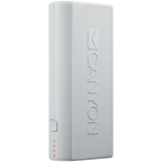 CANYON Power bank 4400mAh (Color: White), built-in Lithium-ion battery, output 5V2A, input auto-adjust 5V1A-2A, White