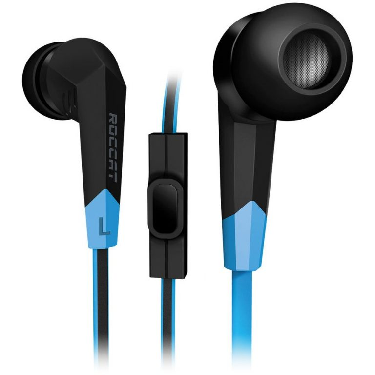 ROCCAT Syva – High Performance In-Ear Headset, Measured Frequency response: 20~20,000Hz, Max. SPL at 1kHz: 96dB, Impedance: 32Ω, Max. input power: Ø10mm, 3.5mm jack