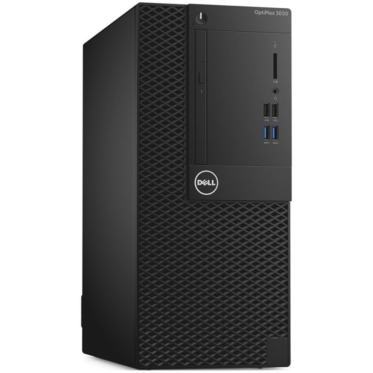 OptiPlex 3050MT, Core i5-7500 (QC/6MB/4T/3.4GHz/65W), 8GB 2400MHz DDR4, 256GB SSD, DVD+/-RW, Dell optical Mouse, Dell Multimedia