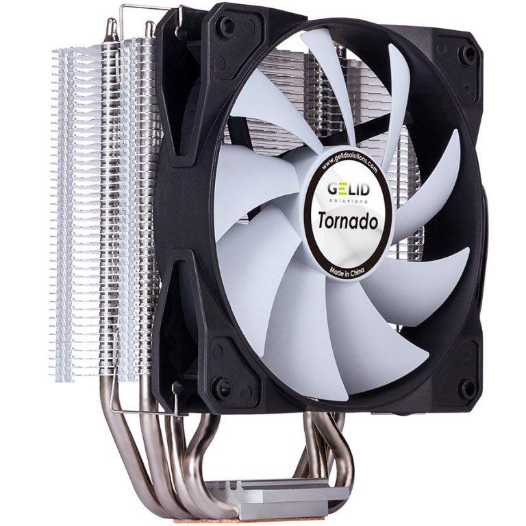 GELID TORNADO Intel: 775/1155/1156/1366/1150/1151/2011 (Mounting clip); AMD: AM2/AM2+/AM3/AM3+/FM1/FM2/AM4 (Mounting clip); TDP 160W; Fan Dimensions (mm):120 (l) x 120 (w) x 25 (h); 120mm PWM Fan; 2Y Warranty