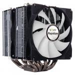 GELID PHANTOM Intel: 775/1155/1156/1366//1150/1151/2011 (Mounting clip); AMD: AM2/AM2+/AM3/AM3+/AM4/FM1/FM2; TDP 200W; Heat Sink & Fan Dimensions (mm): 118 (l) x 126 (w) x 160 (h); 7 heatpipes Nickel Plated;2 Smart PWM Fans; 5Y Warranty