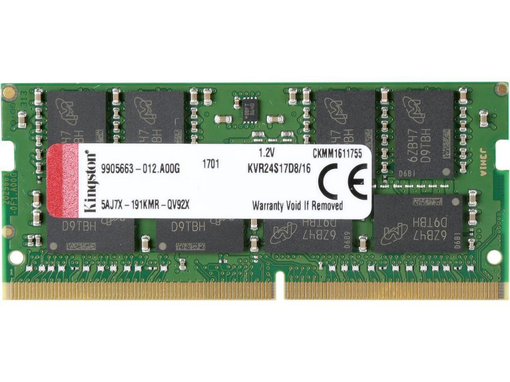 Kingston  16GB 2400MHz DDR4 ECC CL17 DIMM 2Rx8, EAN: '740617258912